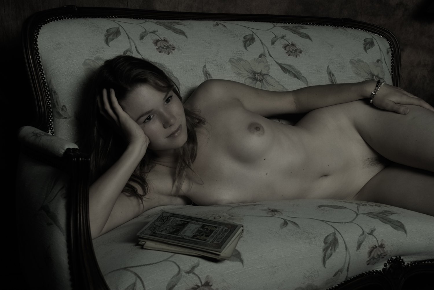 Nude on sofa
